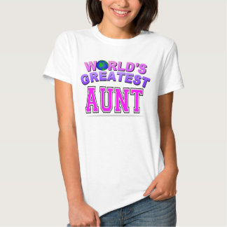 WORLD'S GREATEST AUNT T SHIRT