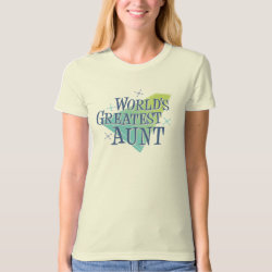 Women's American Apparel Organic T-Shirt with World's Greatest Aunt design