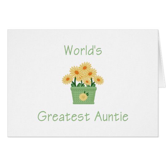 World's Greatest Auntie (flower) Card