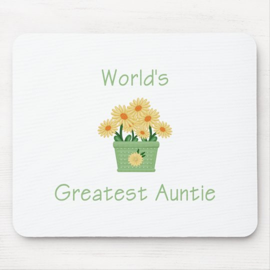 World's Greatest Auntie (flower) Mouse Pad