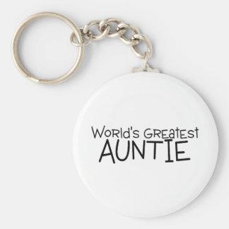 Worlds Greatest Auntie Keychain