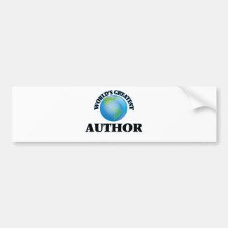 World's Greatest Author Car Bumper Sticker