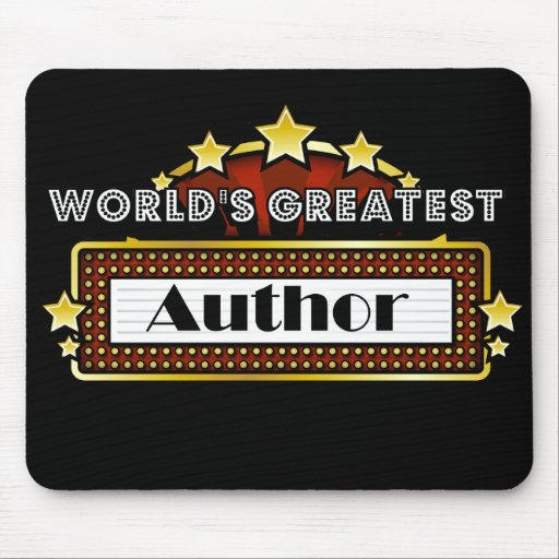 World's Greatest Author Mouse Pad