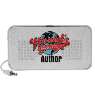 Worlds Greatest Author Laptop Speakers