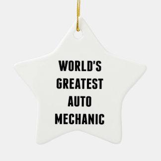 Worlds Greatest Auto Mechanic Ceramic Ornament