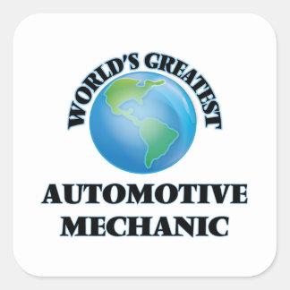 World's Greatest Automotive Mechanic Square Sticker
