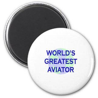 World's Greatest Aviator 2 Inch Round Magnet