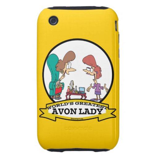 WORLDS GREATEST AVON LADY WOMEN CARTOON iPhone 3 TOUGH CASES