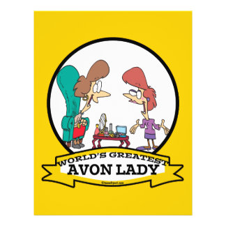 WORLDS GREATEST AVON LADY WOMEN CARTOON FLYER