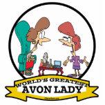WORLDS GREATEST AVON LADY WOMEN CARTOON PHOTO CUTOUTS