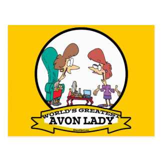 WORLDS GREATEST AVON LADY WOMEN CARTOON POSTCARD