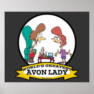 WORLDS GREATEST AVON LADY WOMEN CARTOON POSTER