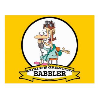 WORLDS GREATEST BABBLER WOMEN CARTOON POSTCARD
