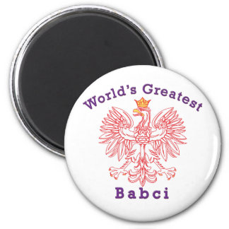 World's Greatest Babci Red Eagle Magnet