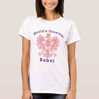 World's Greatest Babci Red Eagle T-Shirt