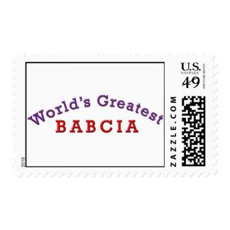 World's Greatest Babcia Postage