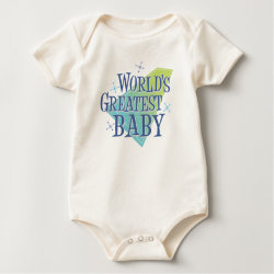 Infant Organic Creeper with World's Greatest Baby design
