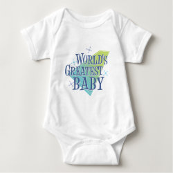 Baby Jersey Bodysuit with World's Greatest Baby design