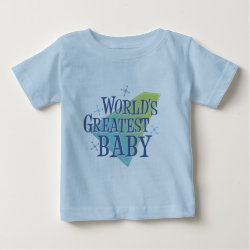 Baby Fine Jersey T-Shirt with World's Greatest Baby design