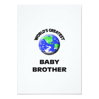 World's Greatest Baby Brother 5x7 Paper Invitation Card