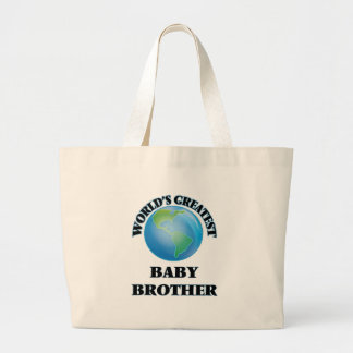 World's Greatest Baby Brother Canvas Bags