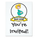 "WORLDS GREATEST BABY BUMP WOMEN CARTOON 4.25"" X 5.5"" INVITATION CARD"