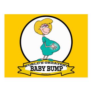 WORLDS GREATEST BABY BUMP WOMEN CARTOON POST CARD