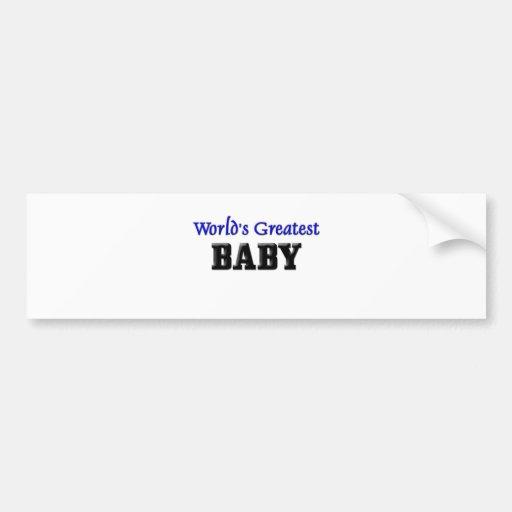 World's Greatest Baby Bumper Stickers
