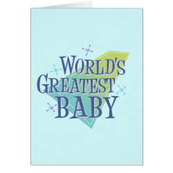 Note Card with World's Greatest Baby design