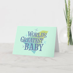 Standard Card with World's Greatest Baby design