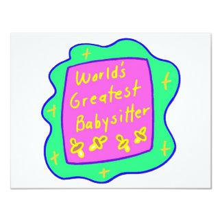 Worlds Greatest Babysitter 2 Card
