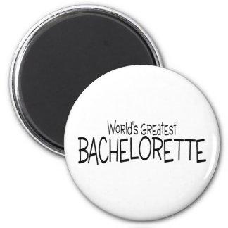 Worlds Greatest Bachelorette 2 Inch Round Magnet