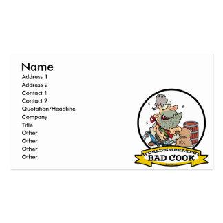 WORLDS GREATEST BAD COOK MEN CARTOON BUSINESS CARD