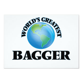 World's Greatest Bagger 5x7 Paper Invitation Card