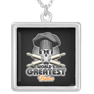 World's Greatest Baker v7 Silver Plated Necklace