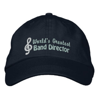 World's Greatest Band Director Embroidered Baseball Cap