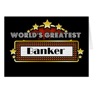 World's Greatest Banker Card