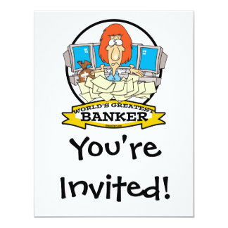WORLDS GREATEST BANKER CARTOON CARD