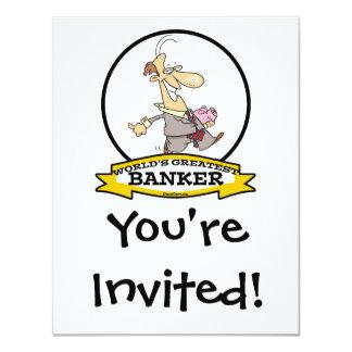 WORLDS GREATEST BANKER MEN CARTOON CARD