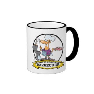 WORLDS GREATEST BARBECUER MEN CARTOON COFFEE MUGS
