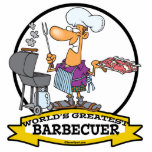 WORLDS GREATEST BARBECUER MEN CARTOON CUT OUTS