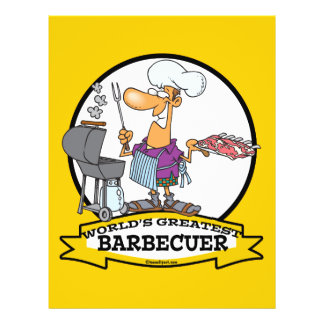 WORLDS GREATEST BARBECUER MEN CARTOON FULL COLOR FLYER