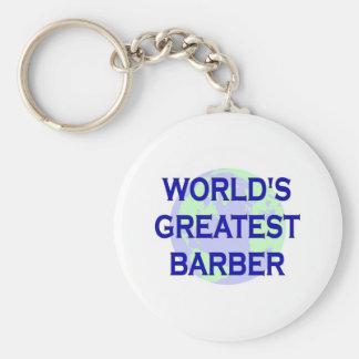 World's Greatest Barber Basic Round Button Keychain