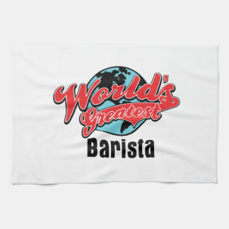 Worlds Greatest Barista Kitchen Towels