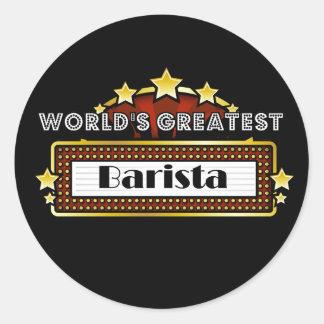World's Greatest Barista Round Sticker