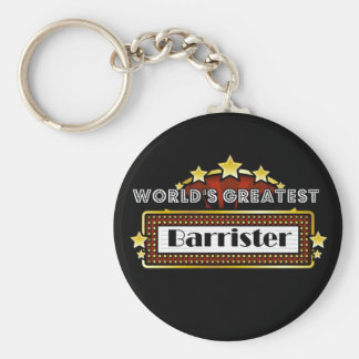 World's Greatest Barrister Basic Round Button Keychain
