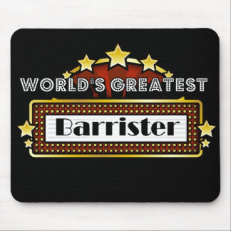World's Greatest Barrister Mouse Pad