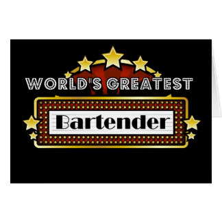 World's Greatest Bartender Card