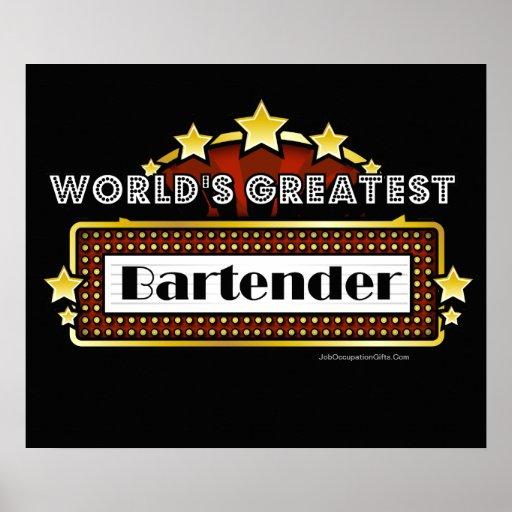 World's Greatest Bartender Poster
