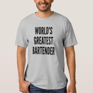 Worlds Greatest Bartender Tee Shirt